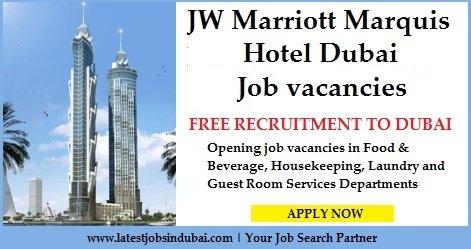 Jobs In Jw Marriott Marquis Hotel Dubai
