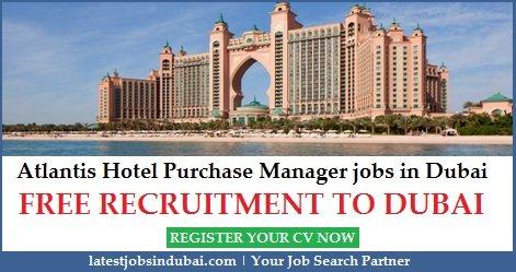Atlantis Hotel Dubai Purchase Manager Jobs