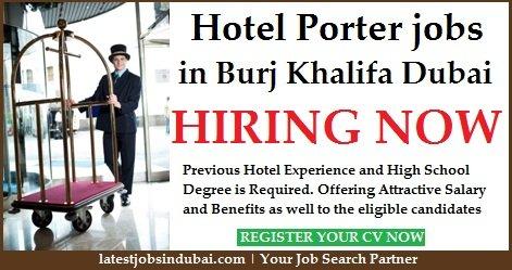 Hotel Porter Jobs in Dubai