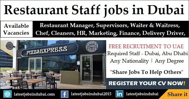 Restaurant jobs in Dubai, Abu Dhabi UAE